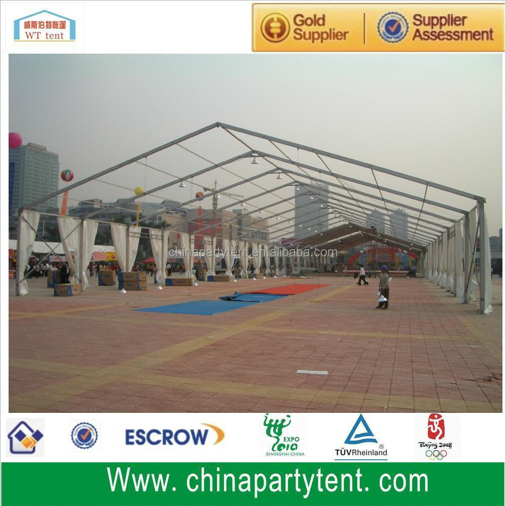 15m Clear span transparent clear PVC roof event tent made in China