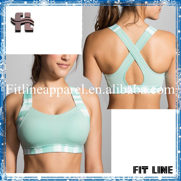 7ad56988fa4 Plus size elastic straps sports bra, sexy cross-back with contoured cups  for women gym bra wholesale fitness wear