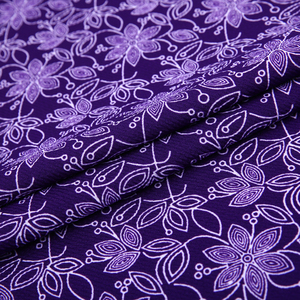 Latest design tricot bubble fancy knit pattern printing fabric material polyester