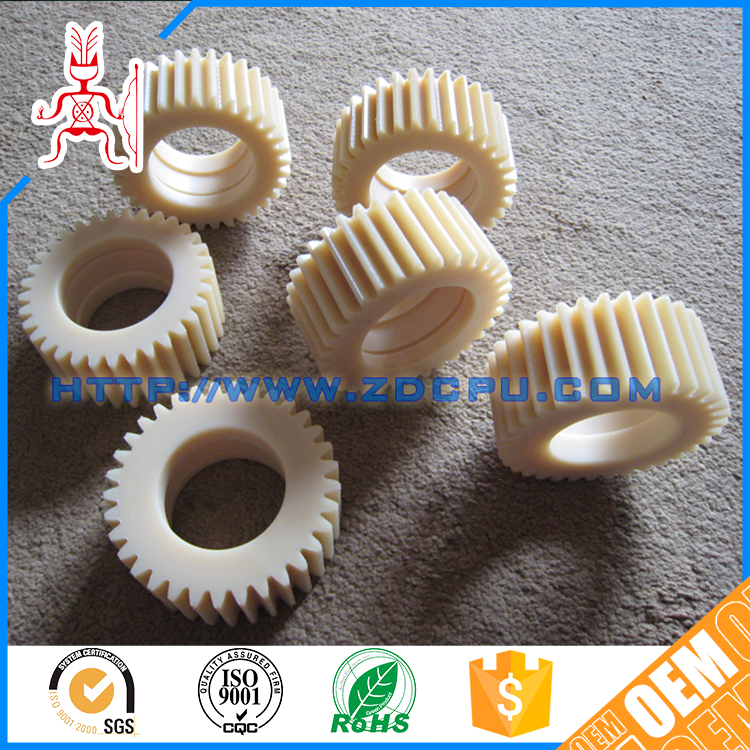 Small cheap flame resistant acetal tooth gears