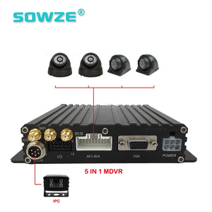 Law Enforcement Mobile Car DVR 3G 12V Car CCTV DVR System Bus Tracker and Monitoring System
