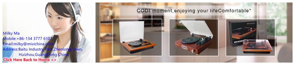 Stereophnic ไม้ไวนิลเครื่องเล่นแผ่นเสียง CD USB SD และฟังก์ชั่นการบันทึก