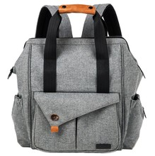 SAMPLE FREE 2018 new style Multi-function Baby Diaper Bag Backpack with Stroller Straps Gray Back Bag