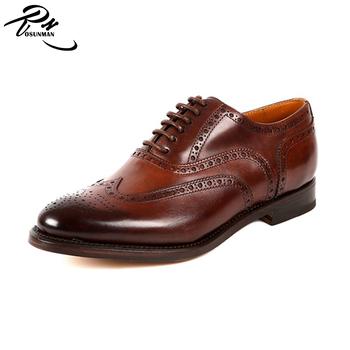d3386336dddce De cuero Goodyear welt zapatos para hombre 2017 oxford zapatos de los  hombres de diseño nuevo