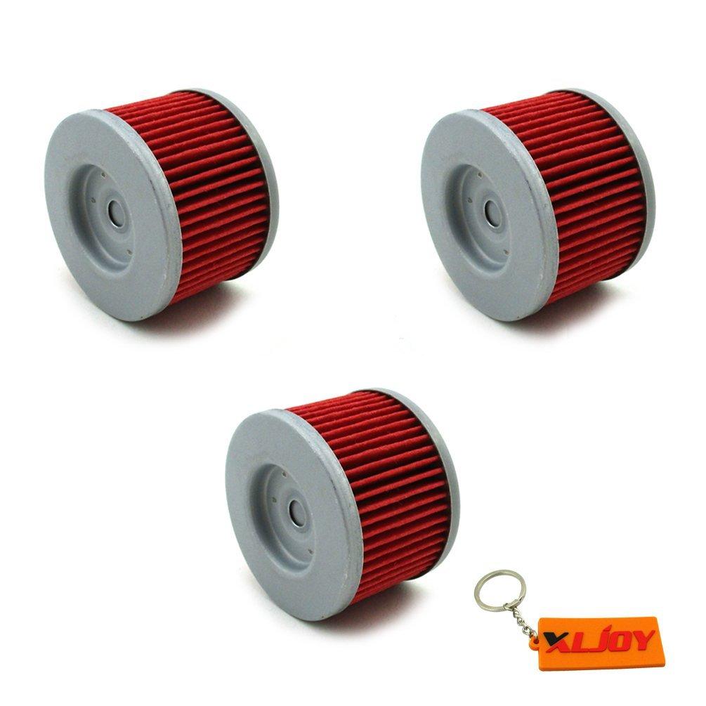XLJOY 3pcs Oil Filter for Honda CBR250R CRF250L XR650L Kawasaki KLX140L KLX110L KLX125