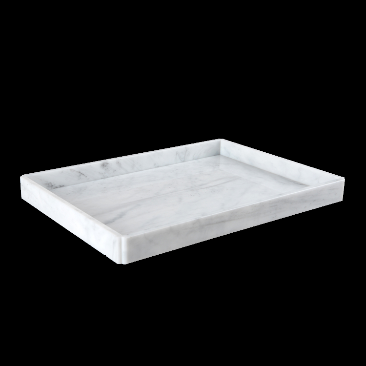 2018 white yellow marble acrylic serving tray for hotel
