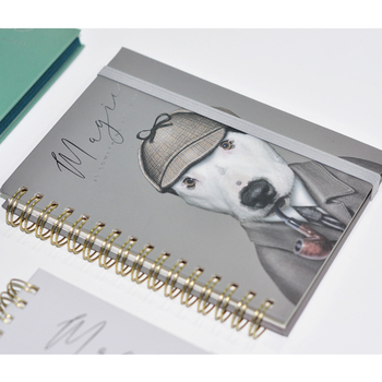 High Quality Animal Designs A5 Diary  Custom Hardcover Spiral Notebook
