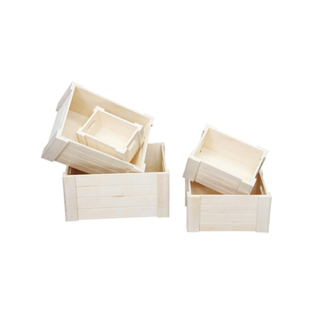 Eco-friendly bulk unfinished wooden crates for sale