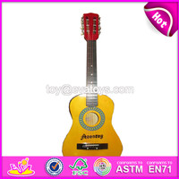 Best sale baby wooden musical guitar toy wholesale kids wooden musical guitar toy W07H014-S