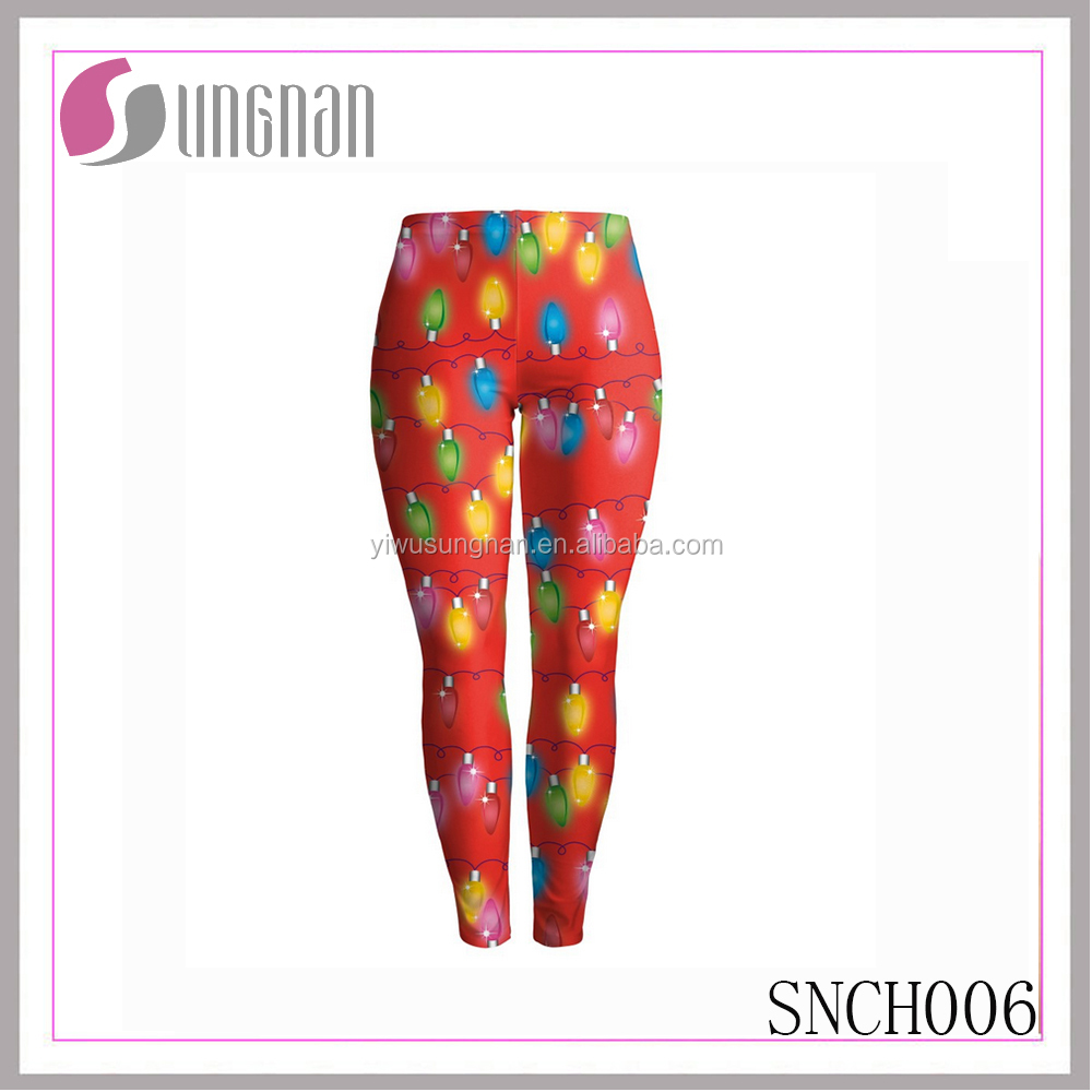 SUNGNAN fashion women holiday wholesale printed leggings