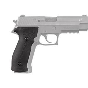 Hogue Sig P226 Grips, DA/SA Magrip, Smooth G-10, Solid Black