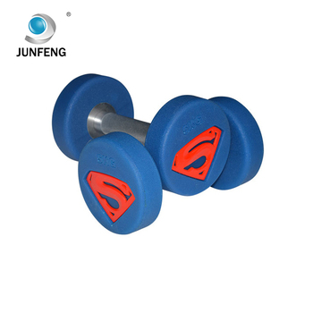2018 crossfit gym round rubber dumbbell