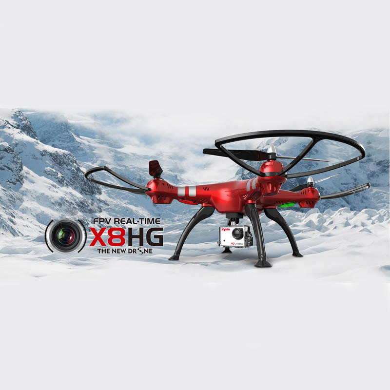 Syma X8HG RC Drone With Camera Helicopter 2.4G 6 Axis Drones With Camera HD Quadcopter Can Carry SJ7000 Wifi Camera
