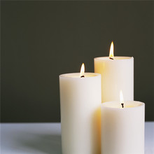 Memorial spell flat candle