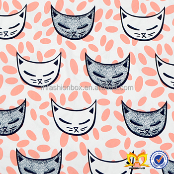 10feb8883d7 Stylish Cat Printed Fabric For Bed Sheet Custom China Supplier Fabric With  Baby Clothing