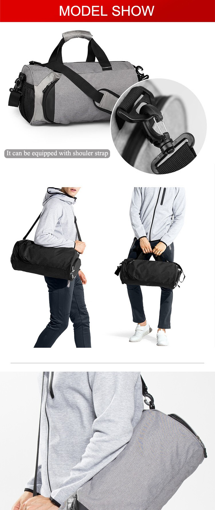 Wholesale custom mens ladies small waterproof washable gym duffle bag with shoe  compartment 45d74b369f037
