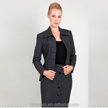 Hot sale ladies office uniform designs for women buy for Office uniform design 2016