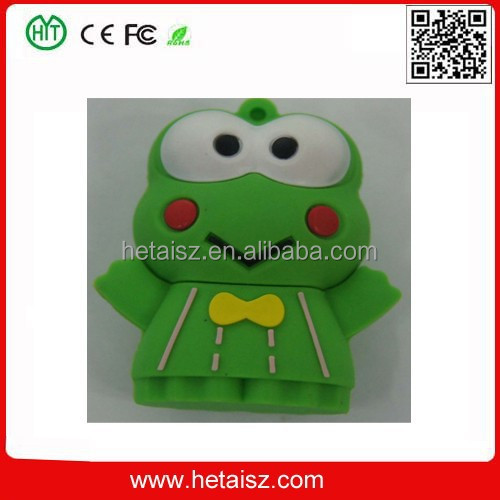 pvc cartoon animal frog usb flash drive, frog 4tb usb flash drive, 32 gb usb frog