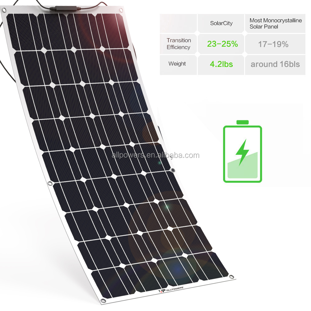 100 Watt 200W Mono Flexible Solar Panel charger