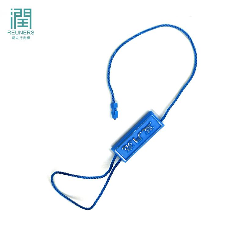 Factory custom kunststoff kleidung tag string hangtag string schleife für bekleidungs