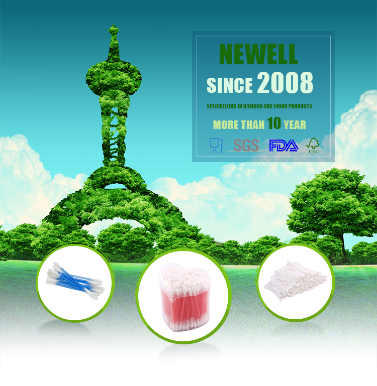 Alibaba Germany cleaning cotton swab wooden with customized logo