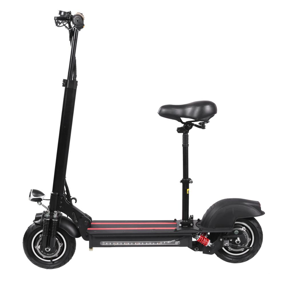 Factory Cheap Best Fast Speed 2 Wheel Off Road Fat Tire Dual Motor Folding 48V Electric Scooter 2000W for Adults, Black or oem