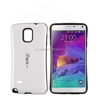 Fashion Candy Colour smooth slippery Phone Case ,design TPU and PC For Samsung GALAXY NOTE4 Iface case