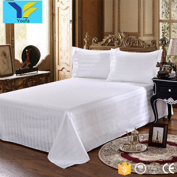 Wholesale bed linen comforter bedding sets 100% cotton white bed sheets bedsheet for hotels and hospitals