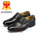 High quality gloss black leather military officer uniform shoes / boots factory in stock