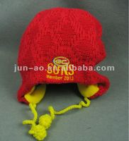 Hand Knitted Technics Baby Hat For Winter