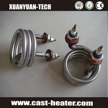 Spiral round coil heater element heating tube