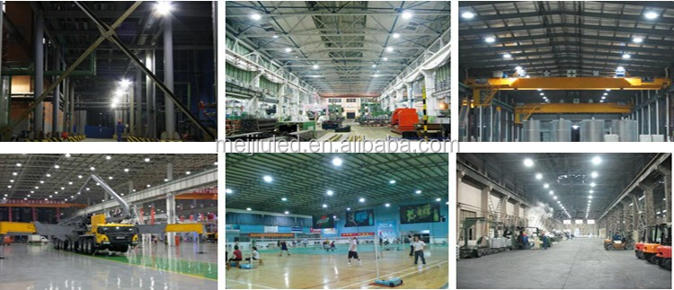 Factory warehouse Lamp 200w ufo led high bay light 5 years MeanWell Driver