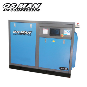 OSMAN ac motor 40hp with vfd motor oil flood water screw air compressor