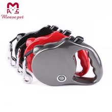 top service supply best quality retractable dog leash plastic pet collar automatic dog leash ABS material