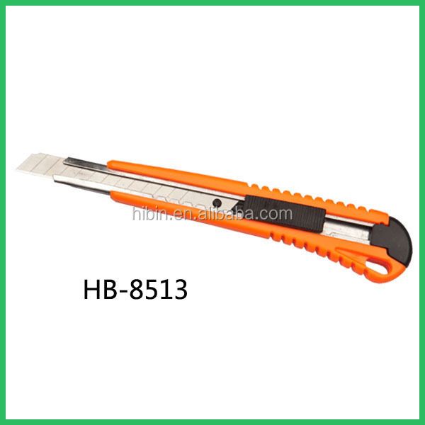High quality new products hand tools heavy-duty Utility Knife loading 9mm cutter safety utility knife (HB8513)