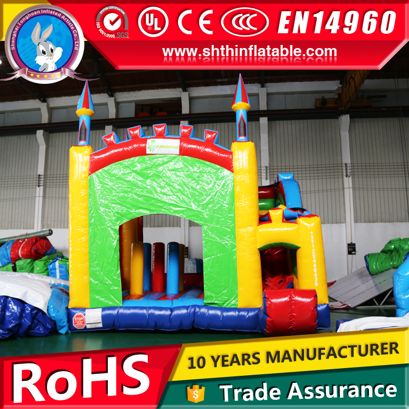 China factory supply inflatable bouncy castle with slide for sale
