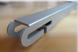 CNC curved aluminium profile CNC deep processing extruded alu profile for bending ,drilling,milling,welding