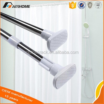 Easy Install Magnetic Shower Curtain Rod
