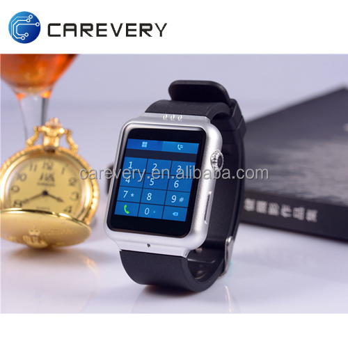 Factory direct supply android 4.4 dual core mtk6572 smart watch and phone capacitive IPS touch creen