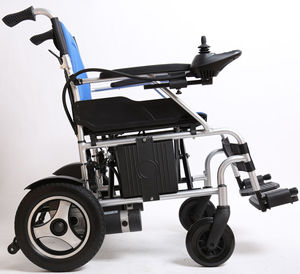 lightweight electric folding wheelchair small electric wheelcharis elector magnetic brake wheelchair