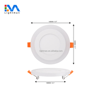 ip44 ac85-265 145mm recessed round dual color led panel downlight