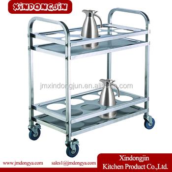 Cr M4 Peralatan Dapur Hotel Housekeeping Pembantu Keranjang Troli