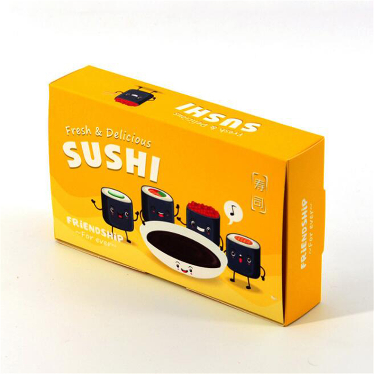 Folding sushi to go box for party