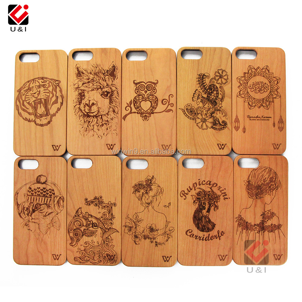 New Product TOP Selling Laser Engraving Bamboo Personalized Real Wooden Phone Case for iPhone 7