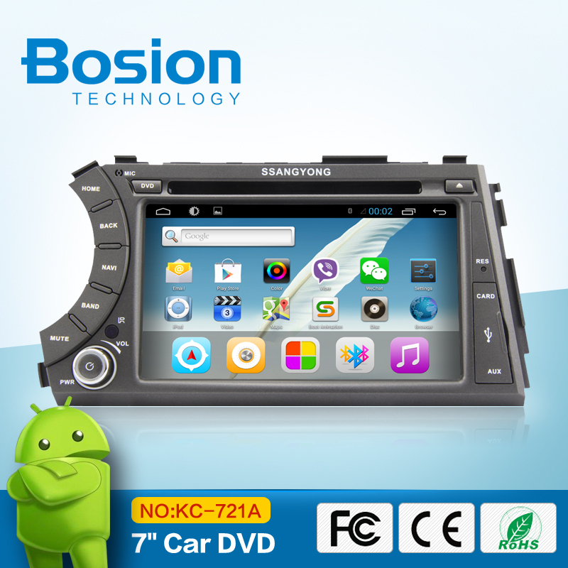 android4.2 car dvd navigation system for SSangyong ActYon with bluetooth usb sd gps radio aux in