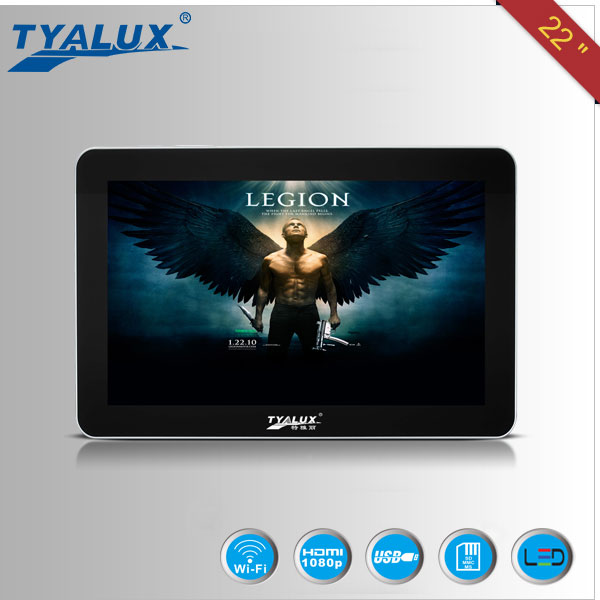 TYALUX 22 inch 3G/WIFI advertising, full hd media player