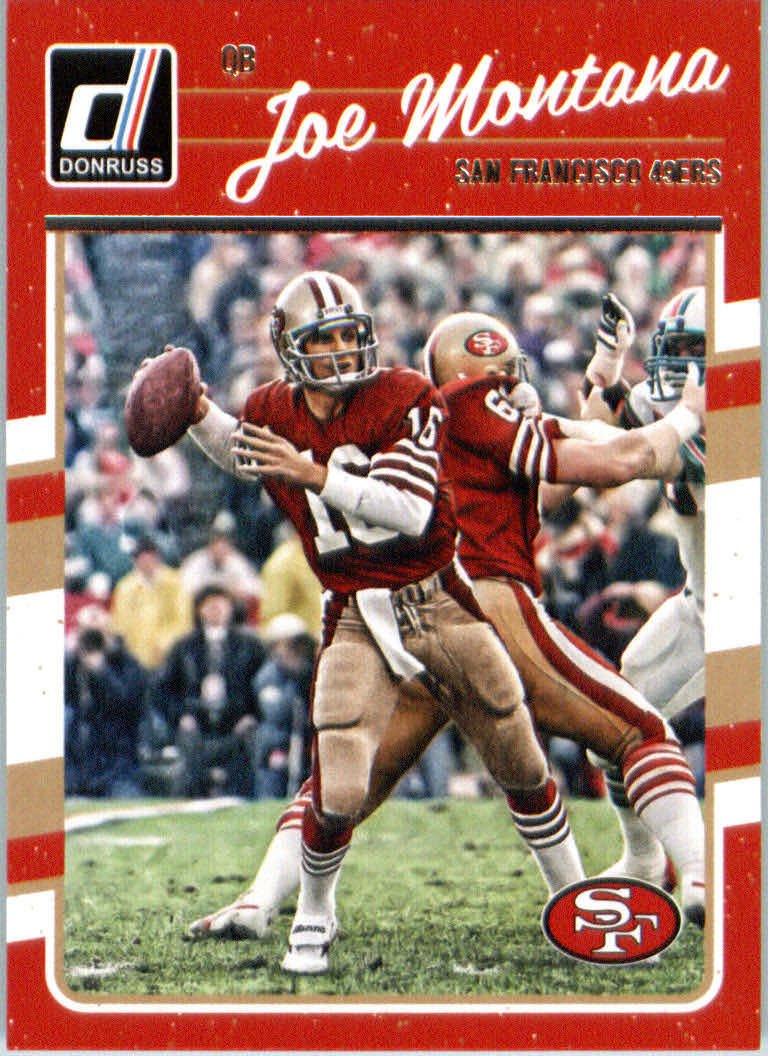 2016 Donruss #262 Joe Montana San Francisco 49ers Football Card