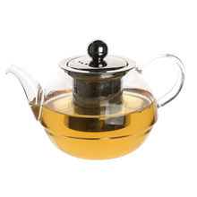 Glass Teapot Kettle Set Borosilicate Glass Tea Balls Included - Metal Strainer glass water kettle