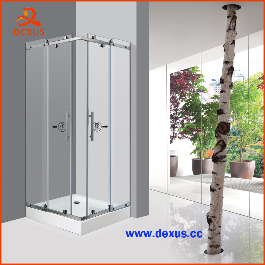 8mm Pattern Glass Customized Sliding Shower Cabin