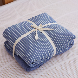 Embroidery Egyptian Cotton Bedding Set With Ac Comforter